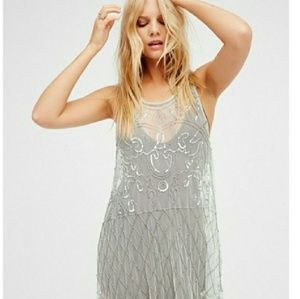 ☀ 3/$45 Free People tank with Silver embellishment
